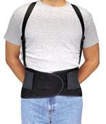 Elastic Back Support Belt w/Removable Suspenders (M) 1/ea