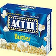 ACT II® Butter Microwave Popcorn 2.75-oz. bx/36