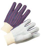 Standard Cowhide Palm Glove w/Knit Wrist (L) 12/pr