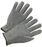 Driver's Glove, Quality Cowhide w/Straight Thumb (L) gray 12/pr
