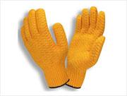 Honeycomb coated  Hvy-Wt. String Knit Gloves (S) Orange 12/pr