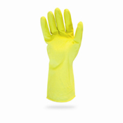 "12-mil 12"" Yellow Flock Lined Latex Glove (S) 12/pr"