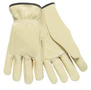 Driver's Glove, Premium Cowhide w/Keystone Thumb (M) 12/pr