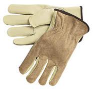 Driver's Glove, Select/Split Cowhide w/Keystone Thumb (M) tan 12/pr
