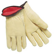 Insulated Driver's Glove, Premium Cowhide (L) tan 12/pr