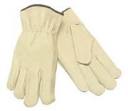 Driver's Glove, Economy Pigskin w/Straight Thumb (M) tan 12/pr