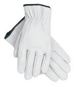 Driver's Glove, Premium Goatskin w/Straight Thumb (M) lt-gray 12/pr