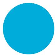 """Inventory Label 1.5"""" Aqua Circle roll/500"""