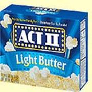 ACT II® Light Butter Microwave Popcorn 2.75-oz bx/36