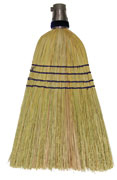 "Corn Broom #24 Maid With o Handle 11"" Sweep"