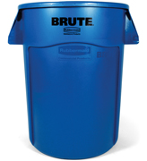 Round Brute® Container with Venting Channels 44-gal. Blue 1/ea