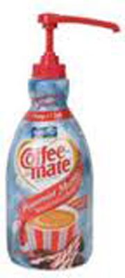 Nestle® Liquid Coffee Creamer, Pump Dispenser, Peppermint Mocha - 1.5-ltr, cs/2