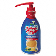 Nestle® Liquid Coffee Creamer, Pump Dispenser, French Vanilla - 1.5-ltr, cs/2