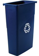 Slim Jiml® Recycling Container 23-gal. (Blue) 1/ea