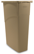 Slim Jiml®  Rectangular Waste Containers 23-gal. (Beige) 1/ea
