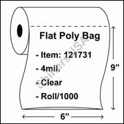 "4 mil Flat Plastic Poly Bag 6"" x 9"" Clear - RL/1000"