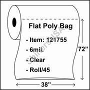 "6 mil Flat Plastic Poly Bag 38"" x 72"" Clear - RL/45"