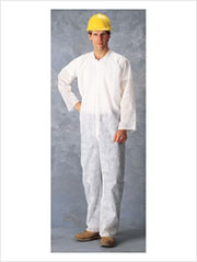 Polypropylene Disposable Coverall For Dust Protection (4XL) White cs/25