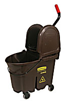 Brown WaveBrake®  35-qt. Mop Bucket & Down-Press Wringer Combo 1/ea