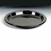"Chinet® Black Heavyweight Plastic Plate - 9"", cs/500"