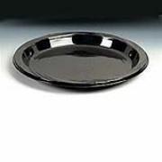 "Chinet® Black Heavyweight Plastic Plate - 10.25"", cs/500"