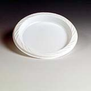 "Chinet® White Lightweight Plastic Plate - 6"", cs/1000"