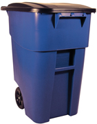 50-Gallon Brute® Rollout Containers (Blue) 1/ea