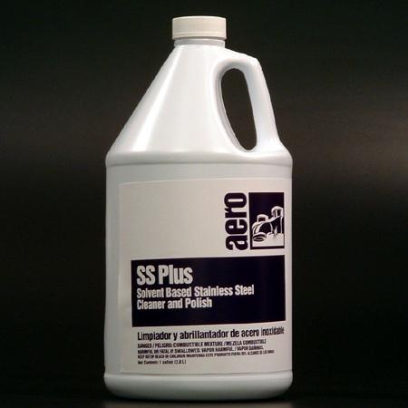 Aero® SS Plus RTU Stainless Steel Cleaner & Polish 128-oz, cs/4