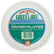 """Lightweight Uncoated Paper Plate 9"""", cs/1000"""