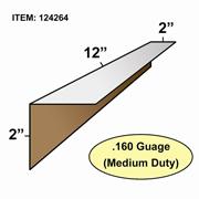 "Edge Board Corner Protectors .160"" x 2"" x 2"" x 12"" skid / 4480"