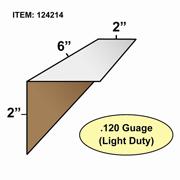 "Edge Board Corner Protectors .120"" x 2"" x 2"" x 6"" skid / 11760"