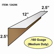 "Edge Board Corner Protectors .160"" x 2.5"" x 2.5"" x 12"" skid / 3840"