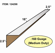 "Edge Board Corner Protectors .160"" x 2.5"" x 2.5"" x 18"" skid / 3840"