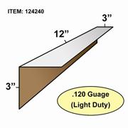 "Edge Board Corner Protectors .120"" x 3"" x 3"" x 12"" skid / 4200"