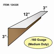 "Edge Board Corner Protectors .160"" x 3"" x 3"" x 12"" skid / 3200"