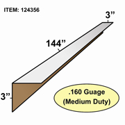 "Edge Board Corner Protectors .160"" x 3"" x 3"" x 144"" skid / 800"