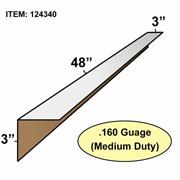 "Edge Board Corner Protectors .160"" x 3"" x 3"" x 48"" skid / 1600"