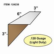 "Edge Board Corner Protectors .120"" x 3"" x 3"" x 6"" skid / 8400"