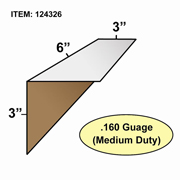 "Edge Board Corner Protectors .160"" x 3"" x 3"" x 6"" skid / 6400"