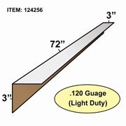 "Edge Board Corner Protectors .120"" x 3"" x 3"" x 72"" skid / 1050"