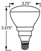 Incandescent Bulb BR30 Med-Base 65-wat Frosted S3408 1/ea