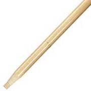 "Heavy-Duty Threaded End Broom Handle 1-1/8"" x 60"" Wood"