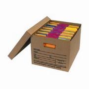 "Economy File Corrugated Storage Box With Lid 15x12x10"" Kraft cs/12"