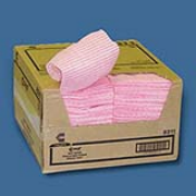 "Food Service Wipers, Pink/White 12x21"", cs/200"