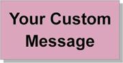 """Custom Paper Label, 500 per Roll 2 x 4"""" Pink"""