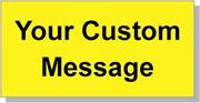 "Custom Paper Label, 500 per Roll 2 x 4"" Yellow"