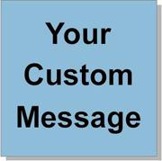"Custom Paper Label, 500 per Roll 4 x 4"" Blue"