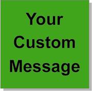"Custom Paper Label, 500 per Roll 4 x 4"" Fluorescent Green"
