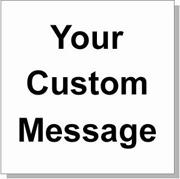 "Custom Paper Label, 500 per Roll 4 x 4"" White"