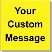"Custom Paper Label, 500 per Roll 4 x 4"" Yellow"